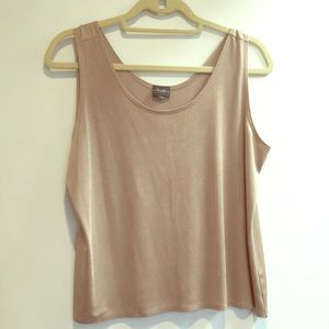 Chicos shimmer beige tan sleeveless tank top